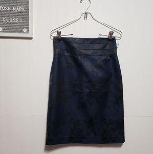 H &m Navy dressy skirt